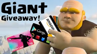 Free iTunes and Google Play Gift Cards! Giant Clash of Clans Giveaway!