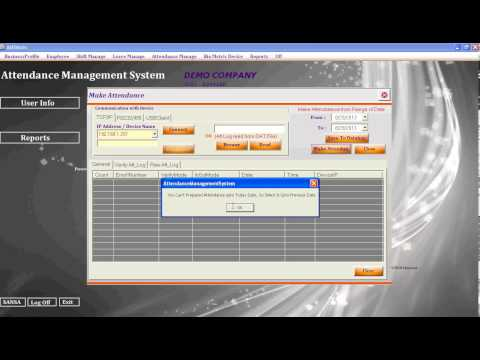 Biometric Fingerprint Employee Time & Attendance Management software free download - Full Version