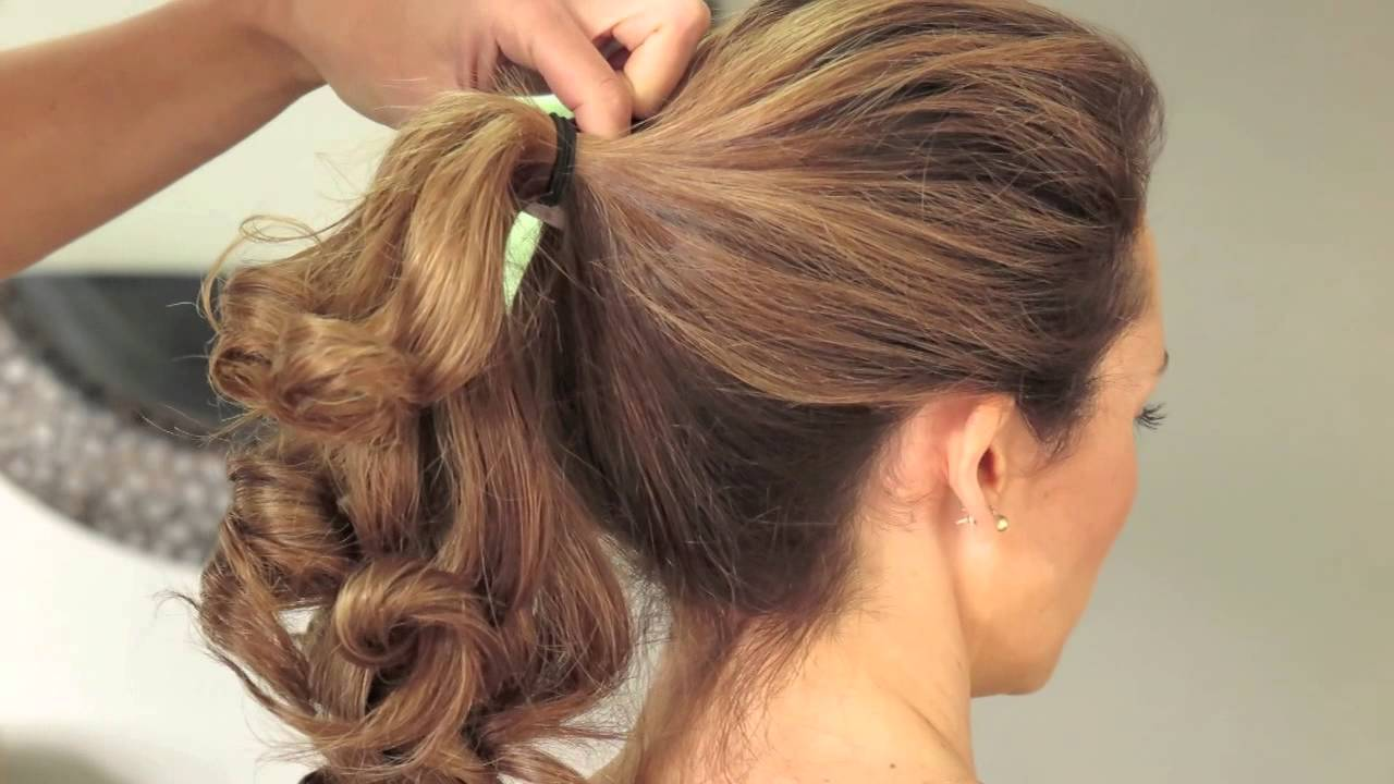 Create This Beautiful Upstyle In Minutes With The Secret Curl Heated