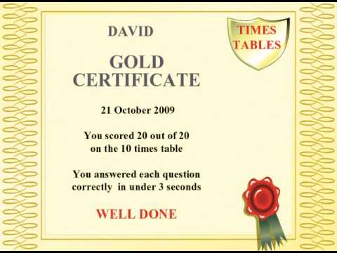 Times Tables Testing - School Version