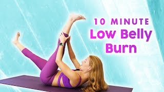 10 Min Lower Belly Burn   Pilates for a Flat Tummy, Abs & Obliques Workout with Banks, Beginners