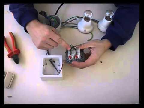 Instalaci n de interruptor doble a dos puntos de luz 4 9 - Tipos de interruptores de luz ...