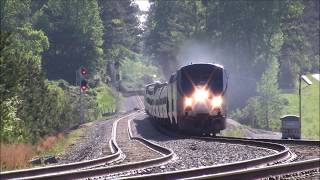 norfolk southern ns 954 eb ocs office car special amtrak 19 wb bonus video atlantaga 4 27 2018