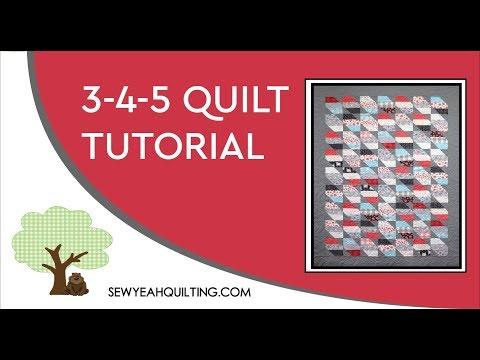 Easy 345 Quilt Tutorial!
