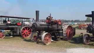 Steam engine farming tractors at 2015 Midwest Old Threshers Reunion in Iowa