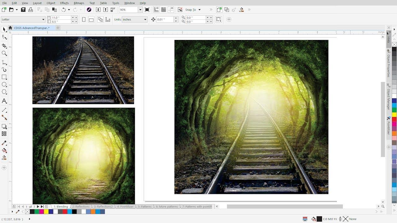 Download Advanced Transparency Effects in CorelDRAW