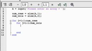 FOR loops in MATLAB: Nested FOR loops