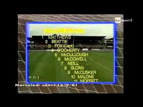 Ballymena United - Roma 0-2 - Coppa delle Coppe 1981-82 - 16imi di finale - andata