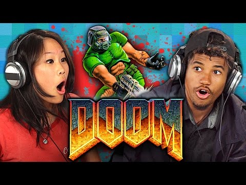 DOOM 1993 ORIGINAL GAME Teens React: Retro Gaming