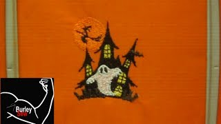 Brother SE400 Programmed Halloween Embroidery Design Tutorial