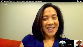#CharacterDay2016 LiveCast Q&A with Angela Duckworth