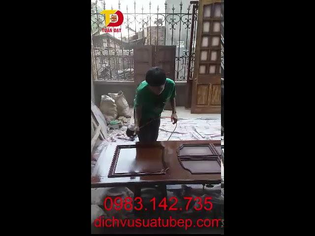 Thợ phun sơn cánh cửa, phu sơn đồ gỗ tại nhà Hà Nội