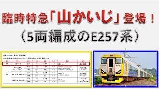 臨時特急「山かいじ」が登場! (5両編成のE257系)