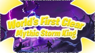 Mythic Storm king World's first clear Fortnite STW