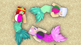 Monster School: ALL MERMAID BABY LIFE FAMILY FRIENDS EPISODE - Minecraft Animation