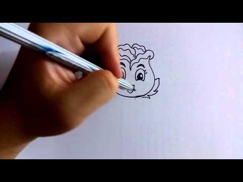 วาดการ์ตูนกันเถอะ สอนวาดการ์ตูน ดอกกุหลาบ