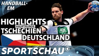 Highlights: Tschechien gegen Deutschland   Handball-EM   Sportschau