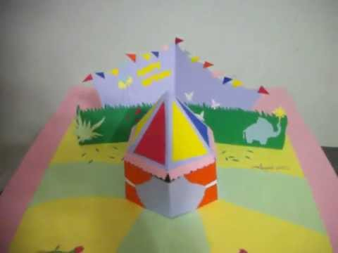 Popup Card 3d Circus Tent Youtube