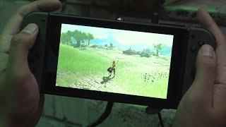 Zapętlaj 10 Minutes of The Legend Zelda: Breath of the Wild in Handheld Mode | IGN
