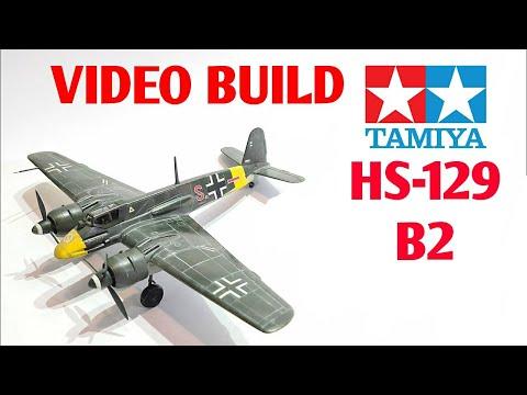 Tamiya 1/72 Henschel HS 129 Aircraft Model - Full Video build