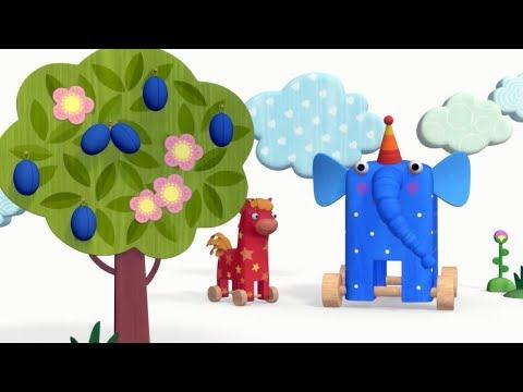 Теремок песенки из мультфильмов - Деревяшки - Облака ⛅ - Мультики для детей и малышей