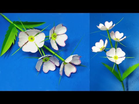 Paper Craft: How to Make Beautiful Stick Flower Making Idea! DIY-Abigail Paper Crafts