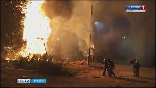 В Петрозаводске при пожаре погибла женщина