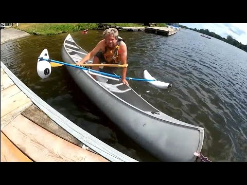 Canoe And Kayak Inflatable Outrigger Stabilizer Test