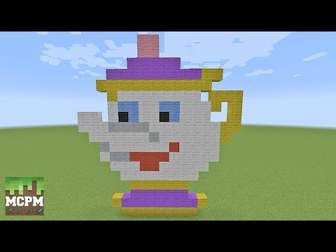 Beauty And The Beast Minecraft Pixel Art Builds Youtube