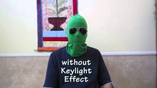 Green Chromakey Apparel - Invisibility w KeyLight Effect - DEMO - After Effects