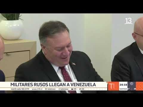 Militares rusos llegan a Venezuela