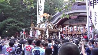 水稲荷神社例大祭2017 本社神輿宮入