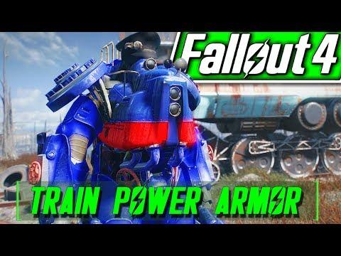TRAIN POWER ARMOR - Fallout 4 Mods - TAKE THE A-TRAIN QUEST - Choo-Choo