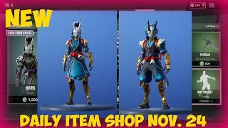 *NEW* Taro/Nara skins! Daily Item Shop [November 24] (Fortnite Battle Royale)