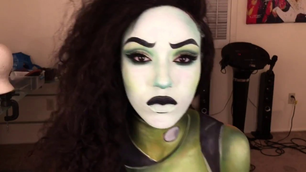 Shego Makeup And Body Paint Kim