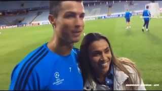 Marta charló con Marcelo, Casemiro y Cristiano Ronaldo.