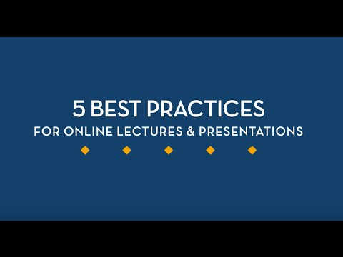 Teaching Tip: Designing Online Lectures and Recorded Presentations