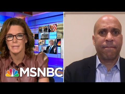 Sen. Booker Reacts To Trump Touting His Record On Race | Stephanie Ruhle | MSNBC