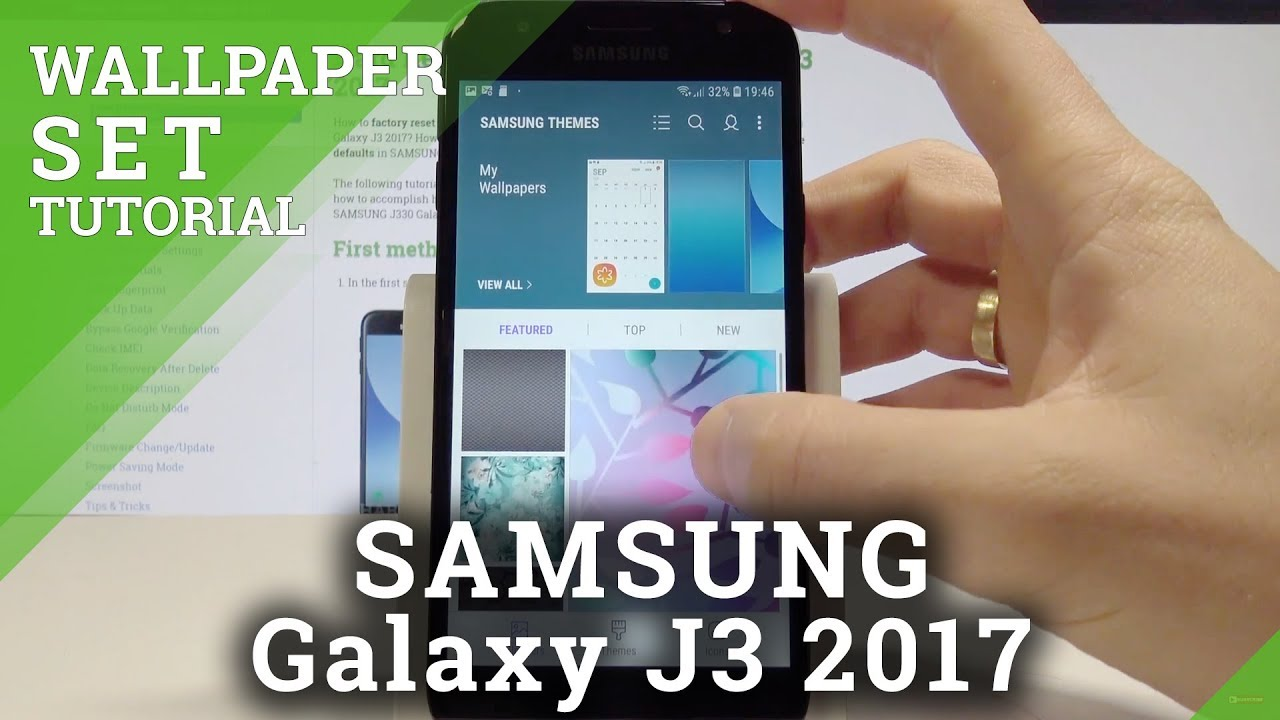 How To Change Wallpaper On Samsung Galaxy J3 2017 Set Up Wallpaper Youtube