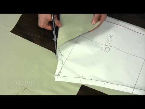 Cutting Fashion Fabric for Pants Sewing (FREE SAMPLE) - YouTube