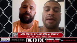 UFC Fight Night 88's Abel Trujillo: 'I can't overlook Jordan Rinaldi'