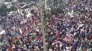 آلاف الفلسطينيين يتظاهرون لتعديل قانون الضمان الاجتماعي- (فيديو) | القدس العربي