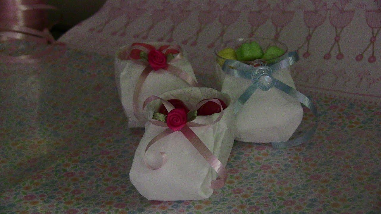 Baby Shower..dulceros zapatitos de papel muy faciles de hacer , YouTube