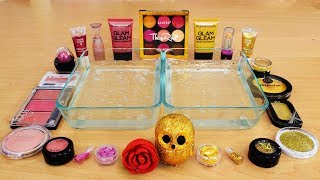 Mixing Makeup Eyeshadow Into Slime! Rose vs Gold Special Series Part 47 Satisfying Slime Video