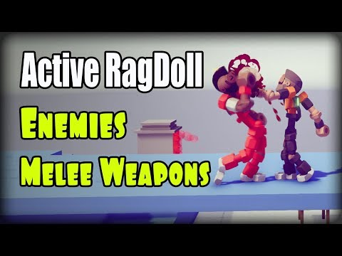 Active Ragdoll In Unity (Unity3D), Enemies, Melee Weapons