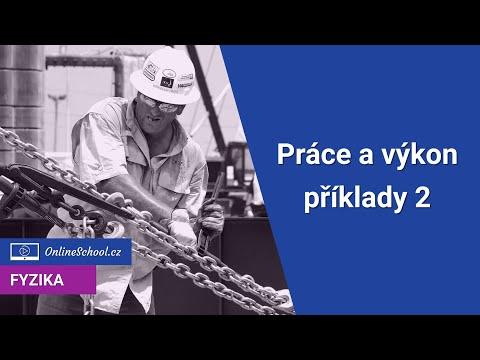 Práce a výkon - příklady 2    4/10 Energie   Fyzika   Onlineschool.cz
