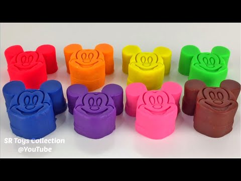Learn Colors and Numbers with 8 Color Play Doh and Molds Surprise Eggs Chupa Chups Super Wings
