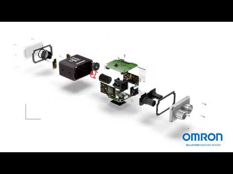 Look inside a barcode reader: MicroHAWK from OMRON blowout video