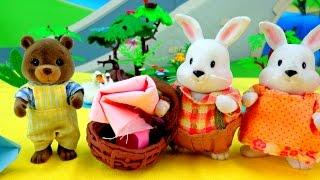 Поделки своими руками: оригами, стаканчик из бумаги. Видео для детей: семья зайчат на ПИКНИКЕ(Детский канал