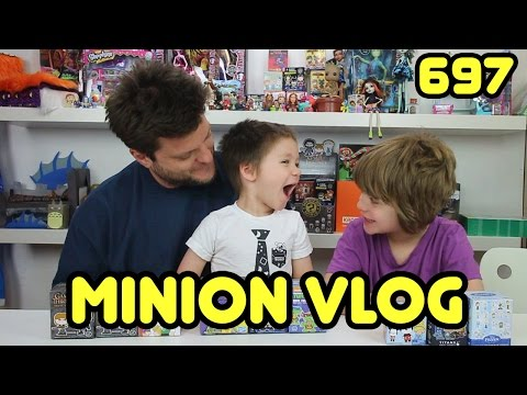 Opening Blinds Minion Vlog(transformers, TMNT, disney, and more) - Day 698 | ActOutGames